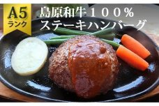 AD159A5ランク!島原和牛100%ステーキハンバーグ(4枚入) ~高級レストランの味をご自宅で~